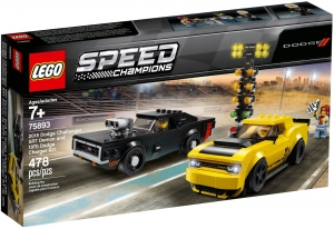 LEGO® 75893 2018 Dodge Challenger SRT Demon oraz 1970 Dodge Charger R/T